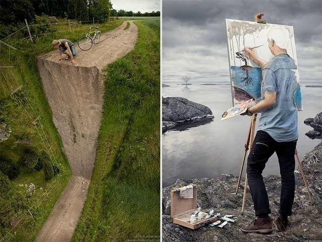 Ruotsalaistaiteilija taitaa Photoshopin