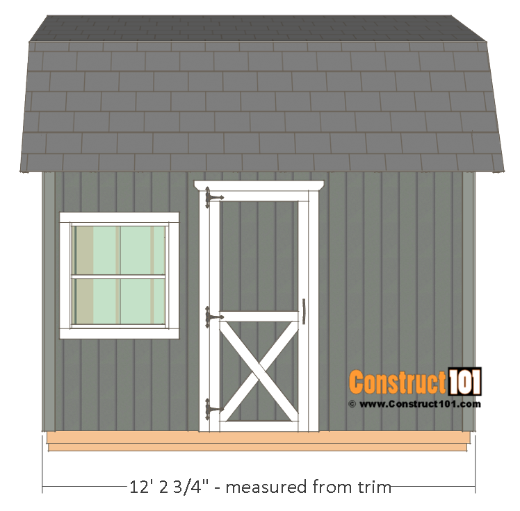 10x12 Barn Shed Plans Construct101 In 2020 Barns Sheds Building A Shed Shed Plans
