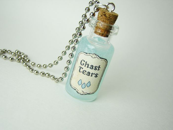 unofficial ghast tears 2ml glass vialbottle necklace