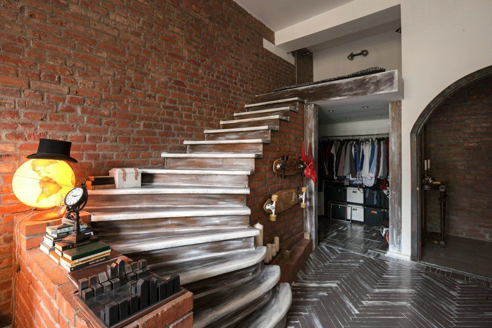 Dise o interiores rusticos loft pisos peque os pinterest interiores r sticos r stico y - Diseno de interiores pisos pequenos ...