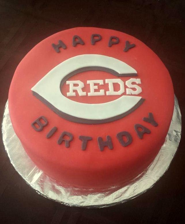 Cincinnati Reds Cake By Badabing Cakes Badabing Cakes
