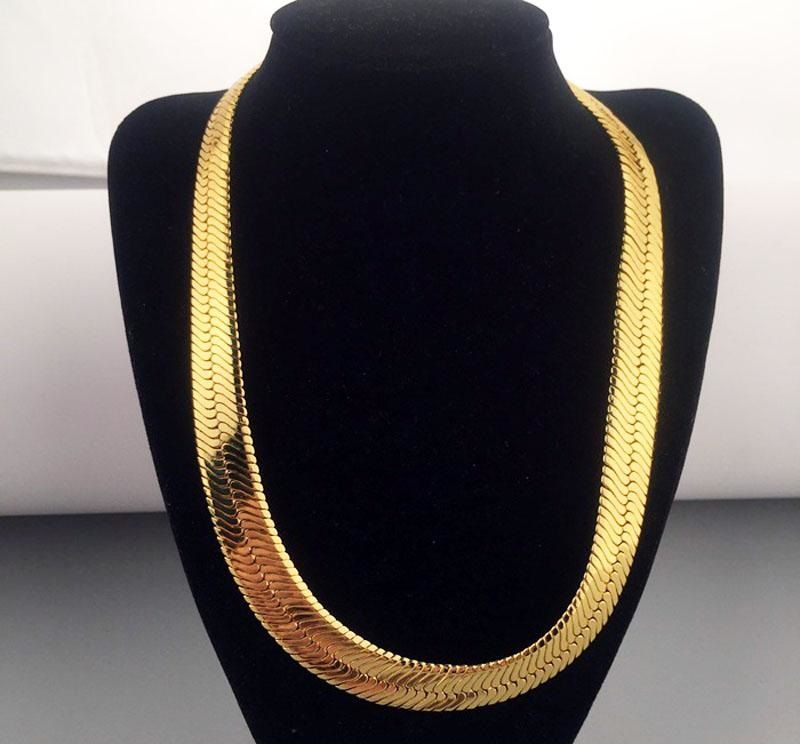 22mm 10k Yellow Gold Herringbone Necklace Chain 26 32 Inches Dream Jewelry Gold Herringbone Chain Gold Necklace Designs