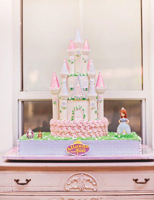 Formal Princess Sofia The First Birthday Party Castle Birthday - Formal birthday cakes