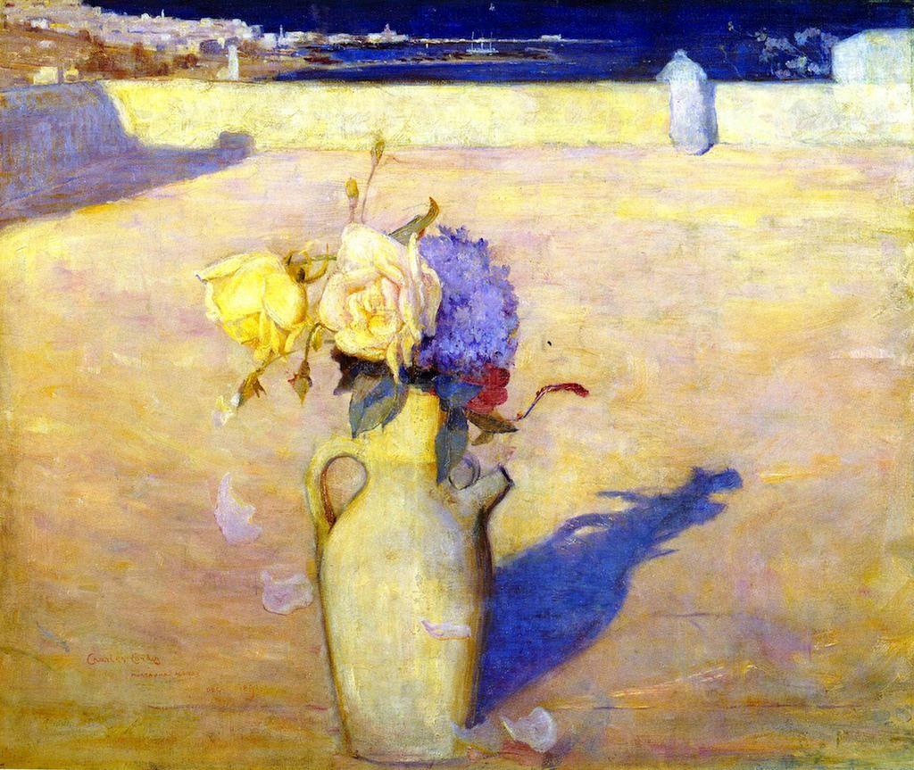 """Hot Sands, Mustapha, Algiers""  1891 Australian Impressionist  Charles Conder"