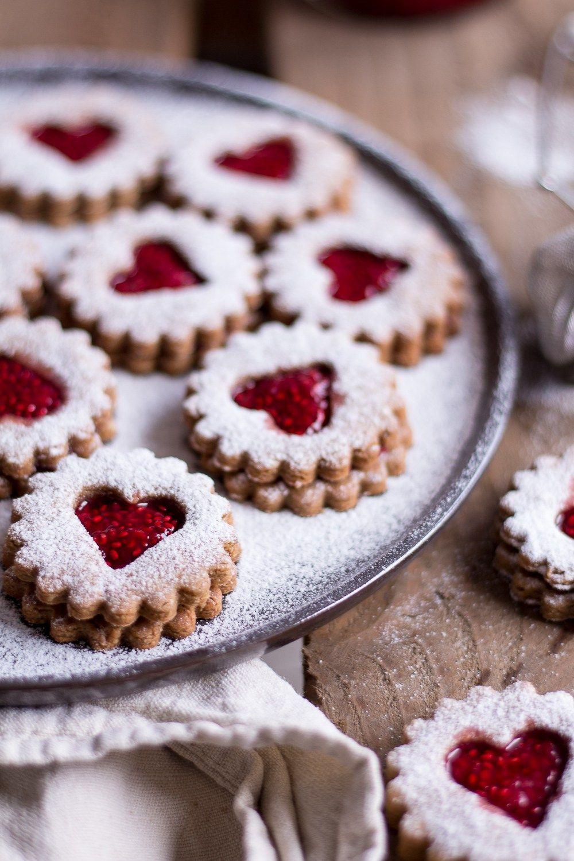 Vegan Christmas Cookies.Healthy Peanut Butter Jelly Christmas Cookies German Spitzbuben