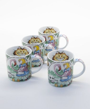 Take A Look At This Alice In Wonderland Mug Set Of Four By Cardew