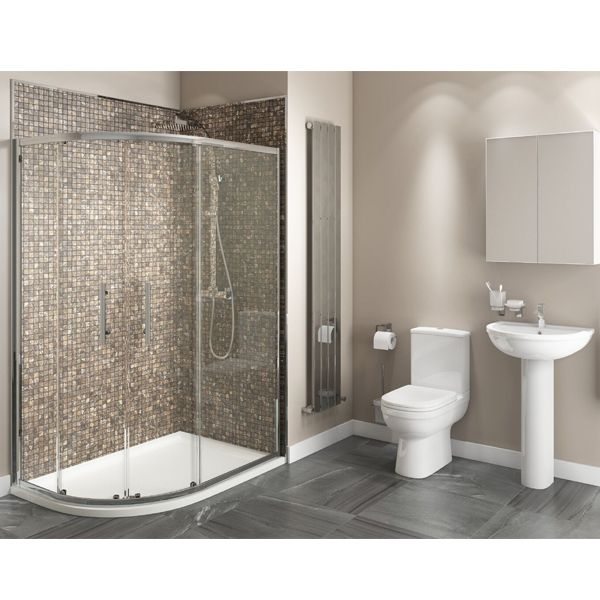 Studio Bathroom En Suite With Offset Quadrant Shower Enclosure