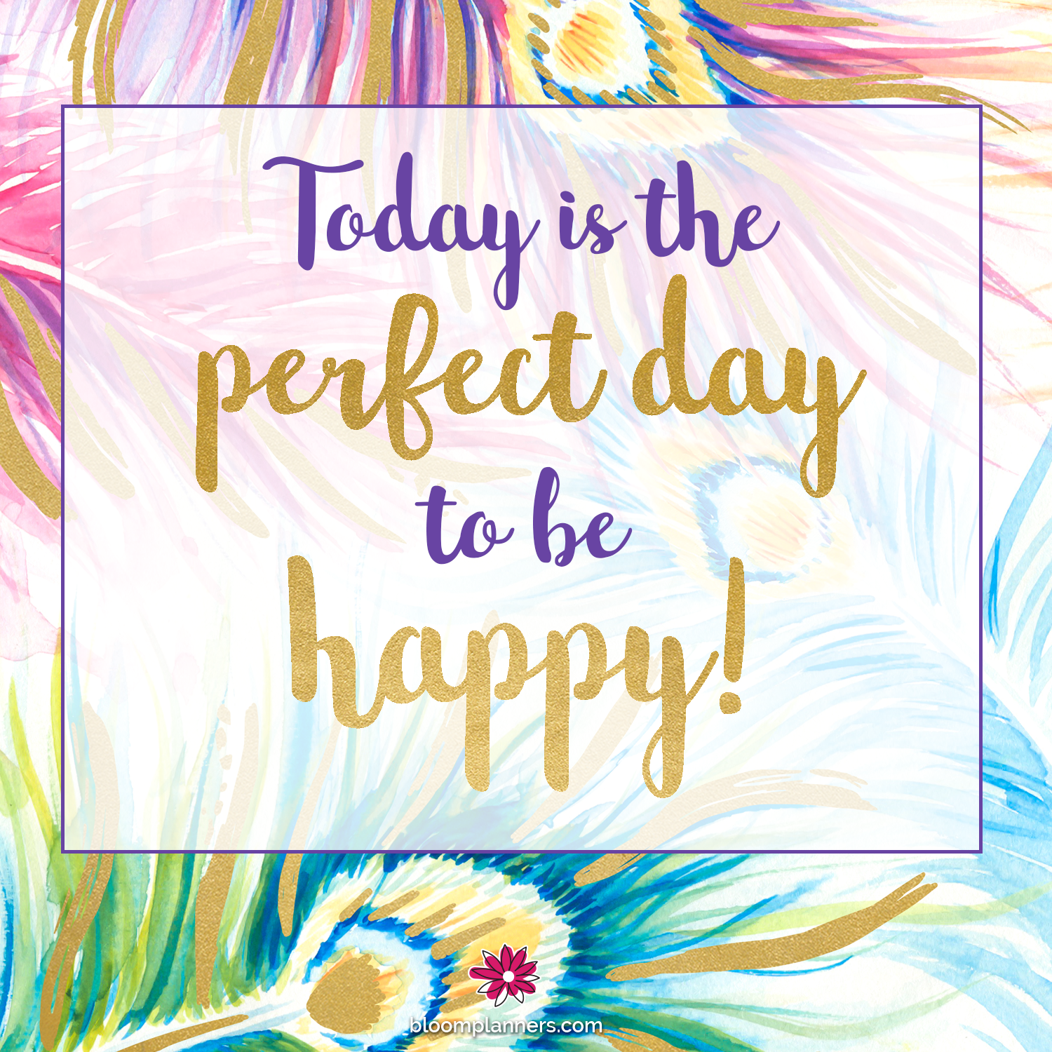 Happy Day Inspiration: Today Is The Perfect Day To Be Happy! Peacock Feathers