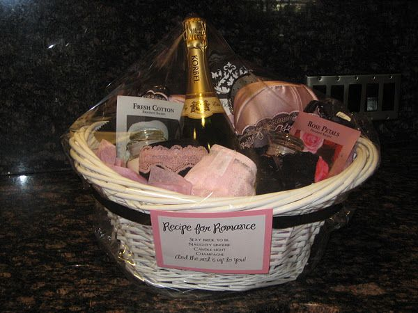 Sexy wedding gift baskets