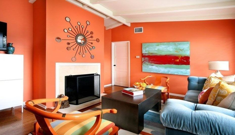 Living Room Colour Combination Wall Painting Designs For Hall