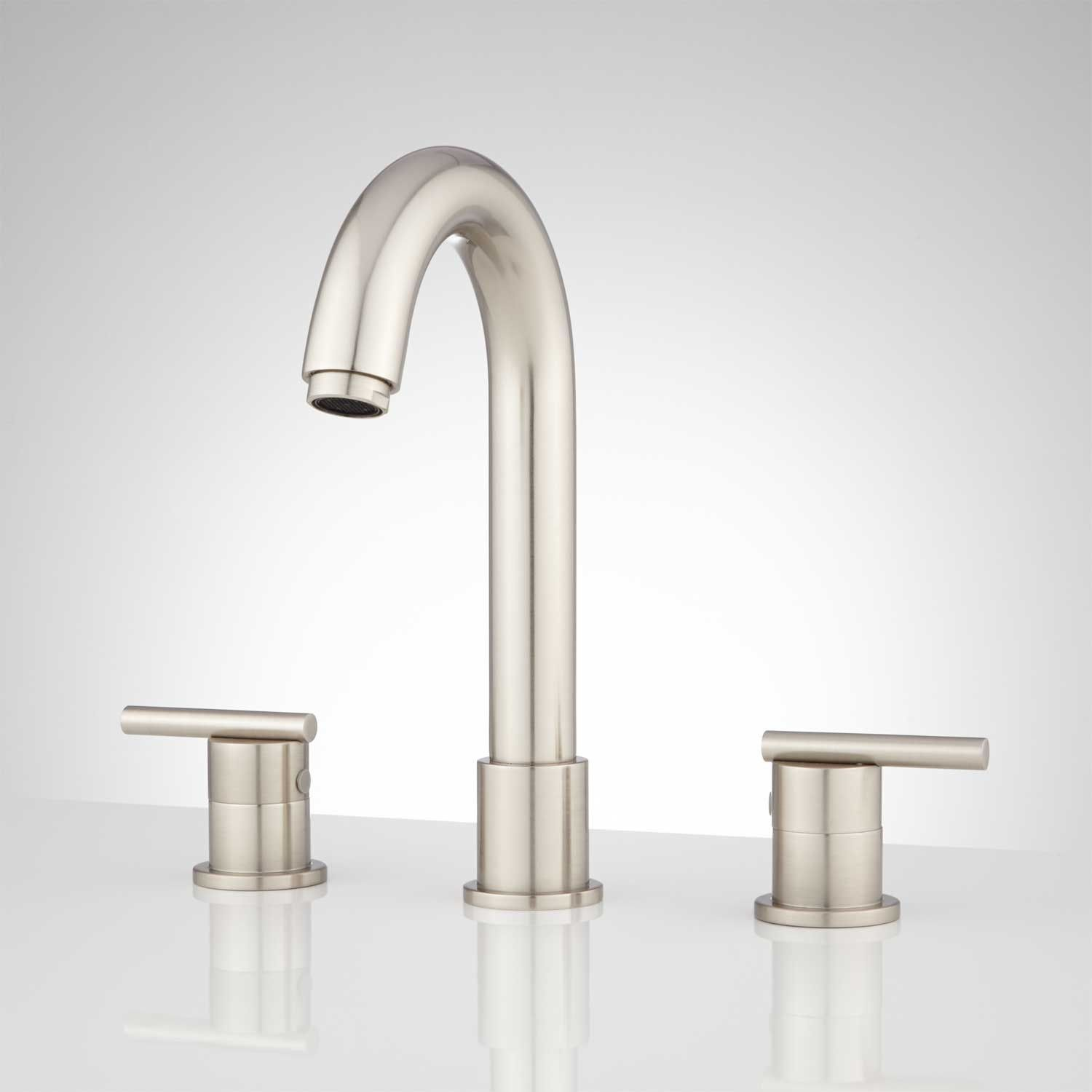 Lester Widespread Bathroom Faucet  Widespread Bathroom Faucet Awesome Brushed Nickel Bathroom Faucets Inspiration