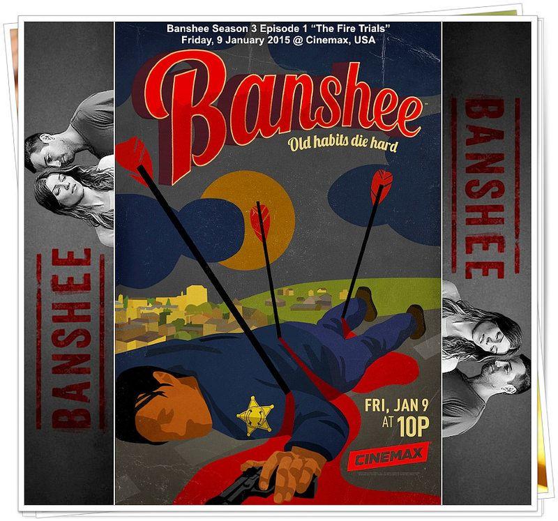"Banshee (TV series) Season 3 ""Old habits die hard"" > Filmed in Charlotte, North Carolina, Season 3 of the hit Cinemax series Banshee premiered on January 9, 2015  on Cinemax, USA > Say hello to Banshee again and enjoy! #Banshee"