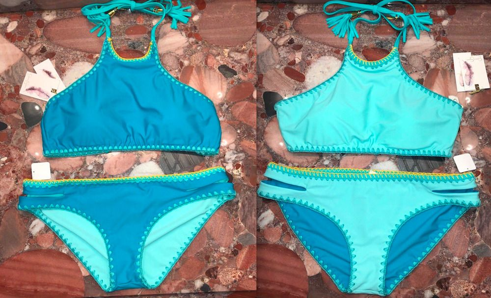 89286d6d08b9f NWT Jessica Simpson Reversible Woodstock Green Bikini Swimsuit 2pc Set  Women's M #JessicaSimpson #Bikini