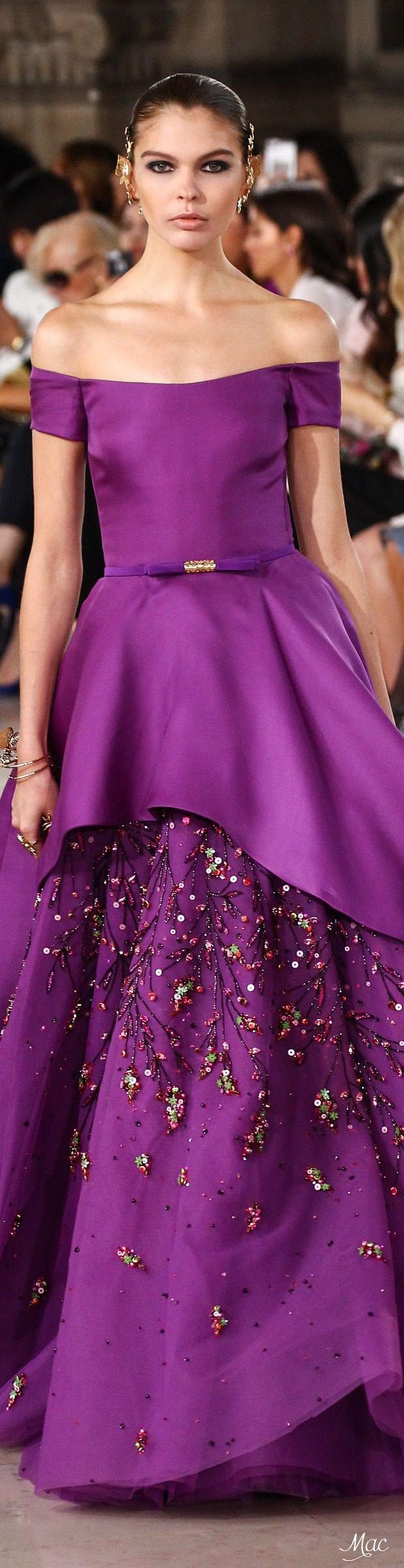 Fall 2016 Haute Couture - Georges Hobeika | elegante sencilles ...