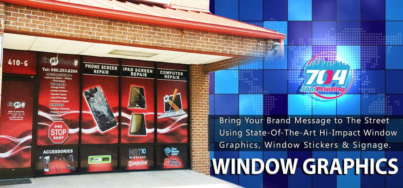 Window graphics window graphics charlotte window graphics sign