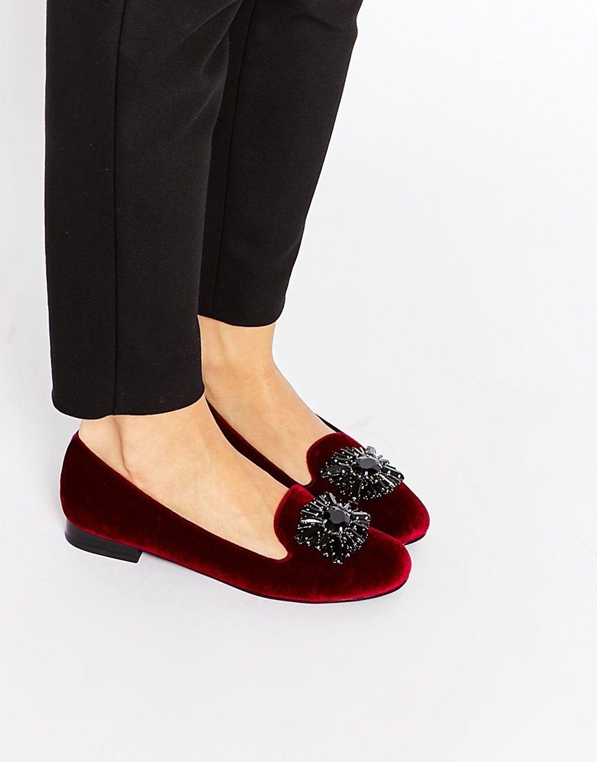 9297999381f ASOS MAYO Embellished Flat Shoes