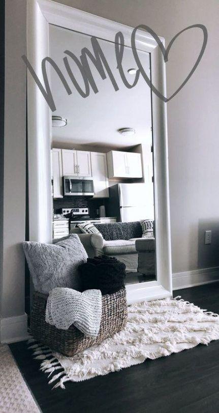 Best Bedroom Big Mirror Black White Ideas Simple Apartment Decor Future Apartment Decor First Apartment Decorating