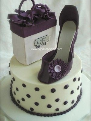Teenage girl s shopping bag & shoes birthday cake Shoes ...
