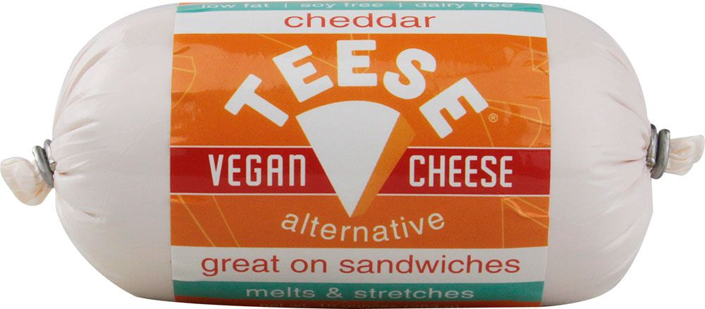 Teese Vegan Cheese Alternative Cheddar 10 Oz Cheese Alternatives Vegan Cheese Cheddar