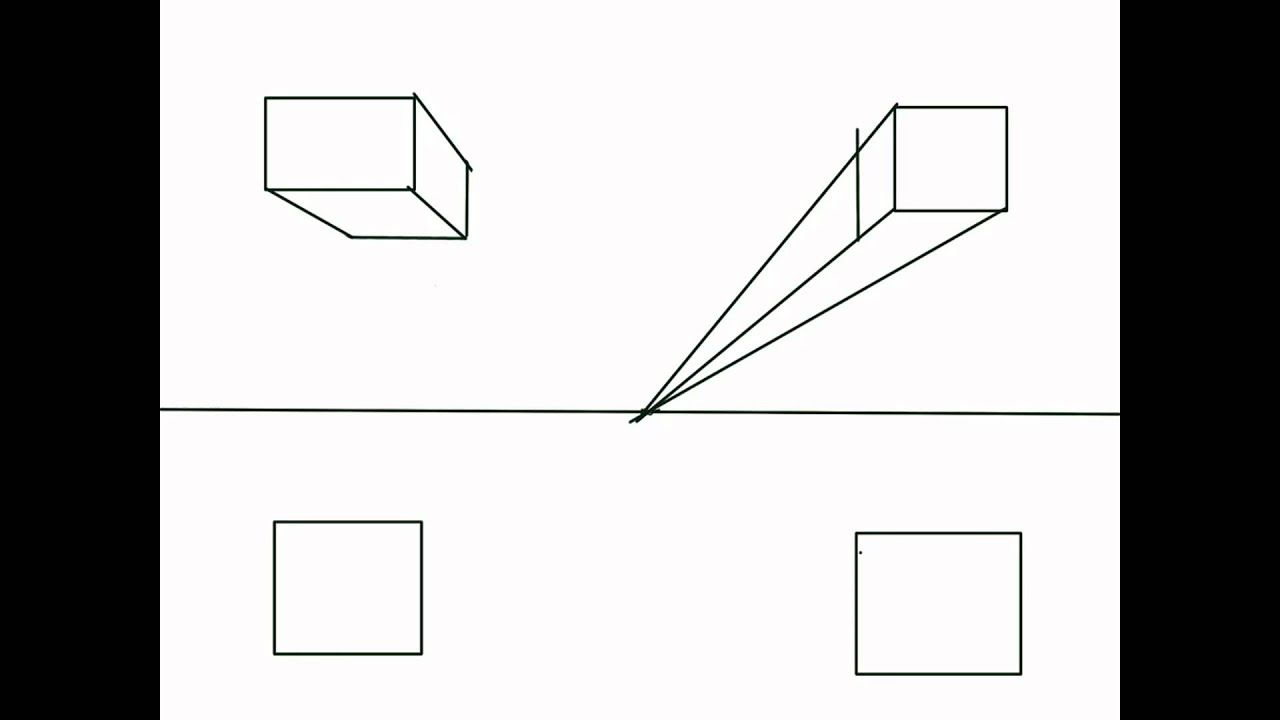 How To Draw Cubes And Rectangular Solids In One Point