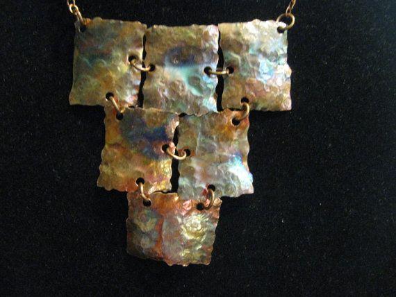 Fired and Hammered Copper Necklace | Pinterest | Kupfer Halskette ...