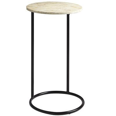 Mother Of Pearl Round C Table C Table Accent Table Drink Table
