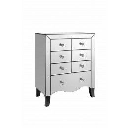 Valentina 7 Drawer Chest Kaybee Doors  sc 1 st  Pinterest & Valentina 7 Drawer Chest Kaybee Doors   Valentino Mirrored Bedroom ... pezcame.com