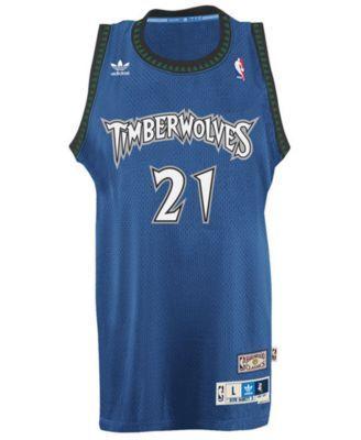 8bce0fb2f77 adidas Men s Kevin Garnett Minnesota Timberwolves Retired Player Swingman  Jersey - Blue S