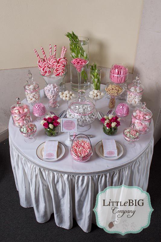 Beautiful Pink Candy Buffet For A Special Girl Mesa De Dulces Boda Buffet De Dulces Mesas Dulces Comunion
