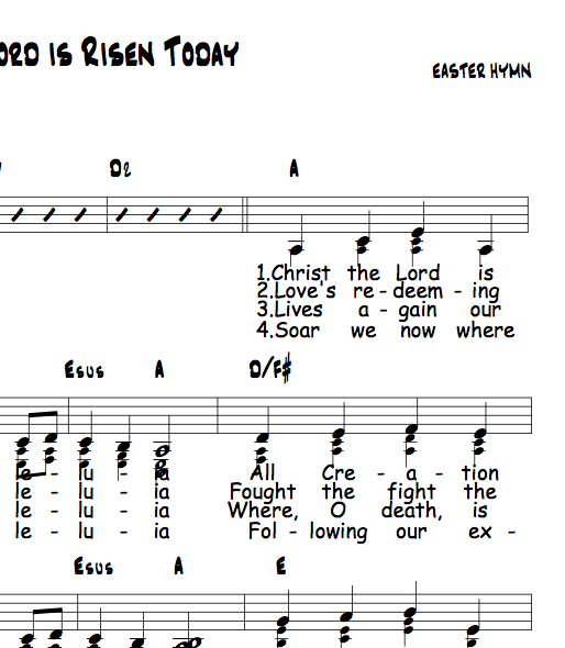 Christ the Lord is Risen Today - Capo 3 in A | Christian music ...