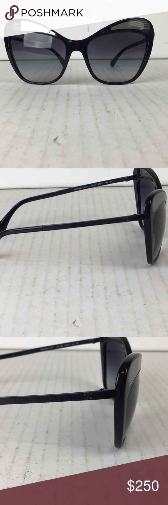 5f47139f6b3a CHANEL BUTTERFLY SUNGLASSES CHANEL BUTTERFLY SUNGLASSES 100 AUTHENTIC BLACK  WITH MIRRORED DETAILS EXCELLENT CONDITION NEW WITHOUT TAG GREAT FOR SUMMER  VERY ...