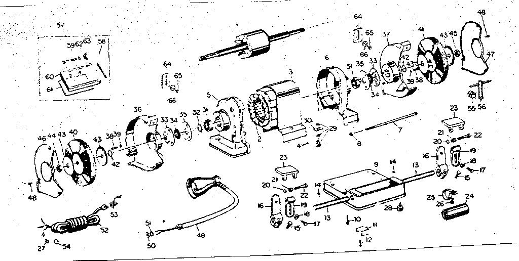 Craftsman 397 19521 Bench Grinder Parts Diagram Bench Grinder Diagram Craftsman