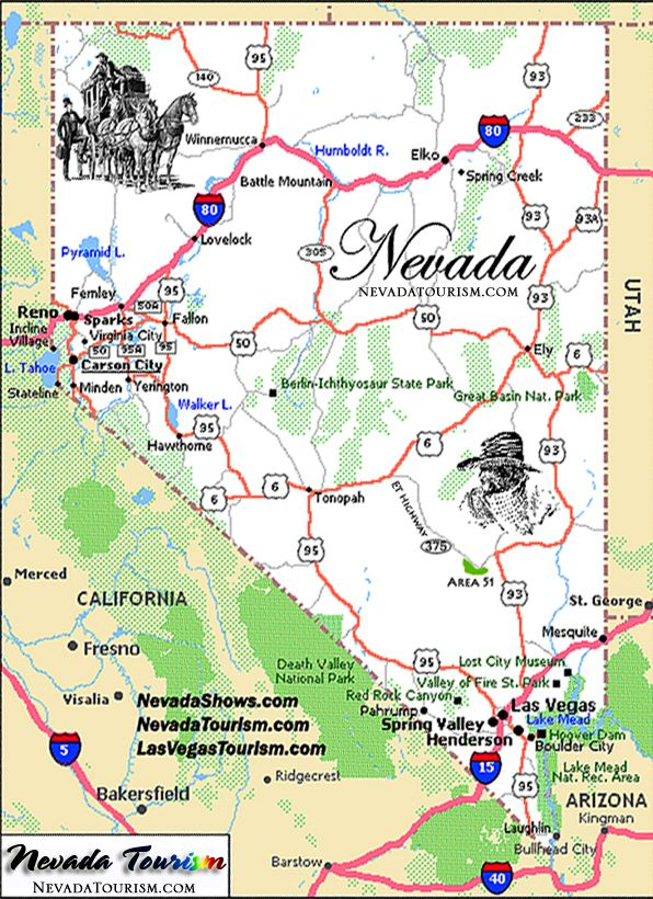 nevada  Nevada Map State of Nevada Map  Travel The Americas