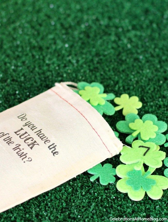St Patrick S Day Lucky Number Game St Patrick S Day Games St