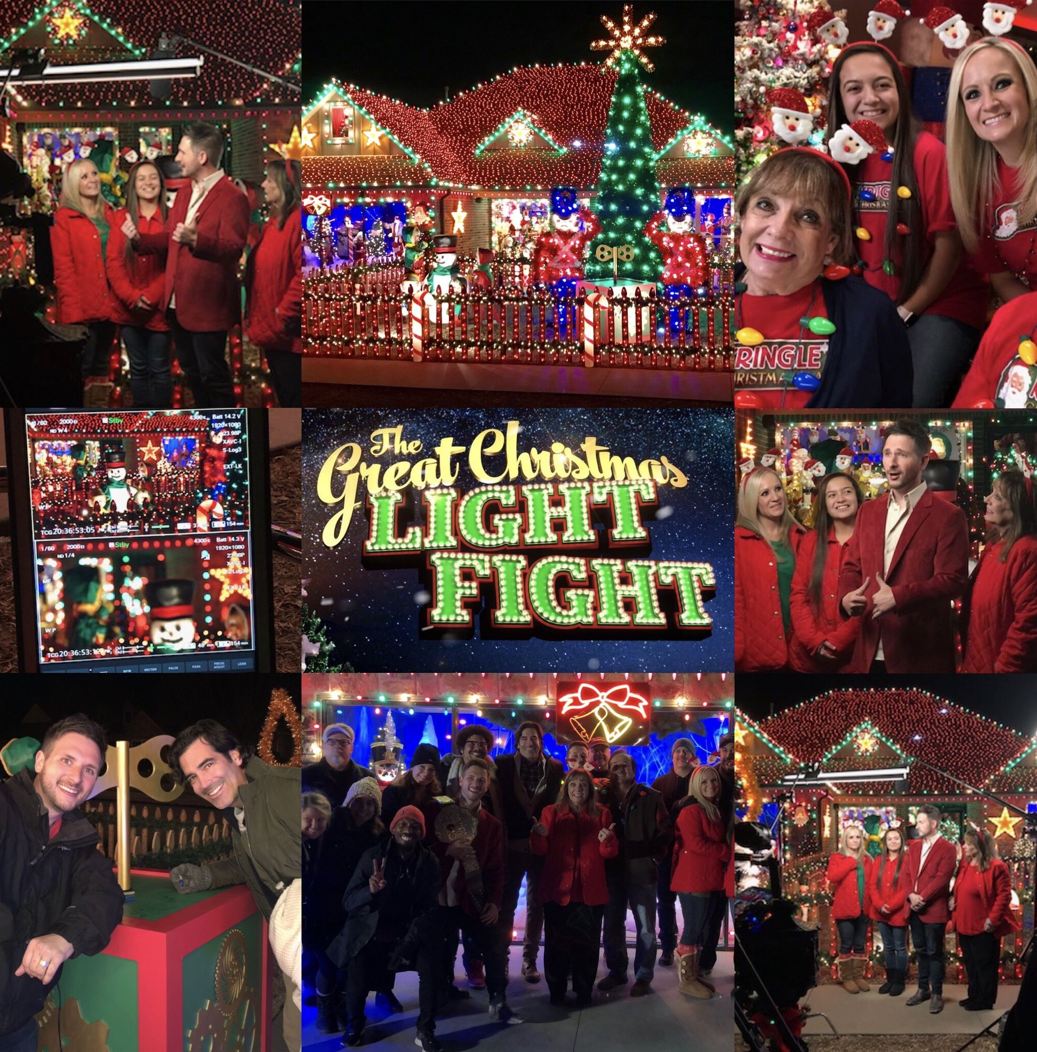 The Sumner family on ABC's The Great Christmas Light Fight airs in