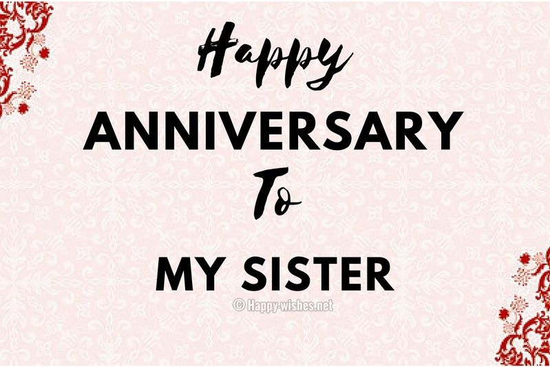 Happy Anniversary Wishes To My Sister Compressed Anniversary Wishes For Sister Wishes For Sister Happy Wedding Anniversary Wishes