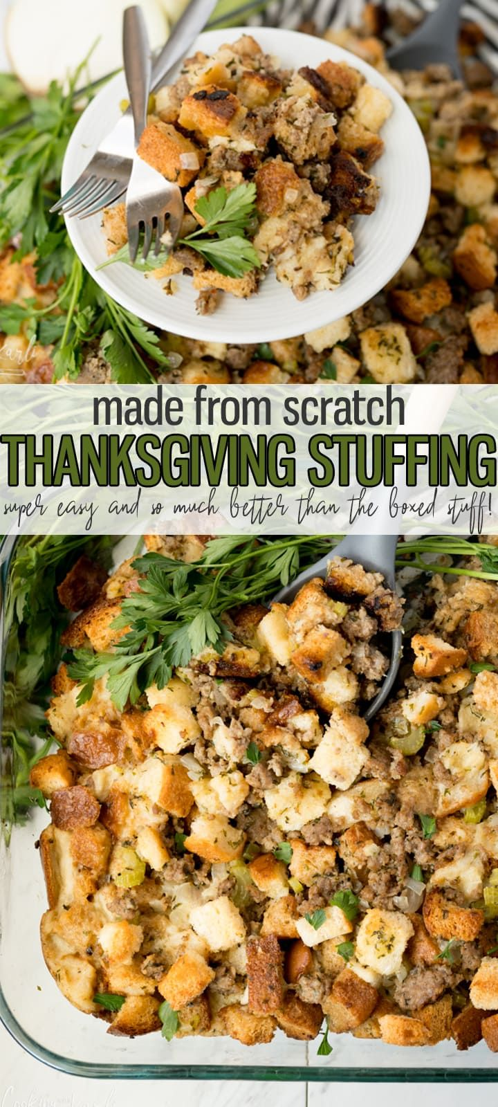 Stuffing Recipe with Sausage - Cooking With Karli