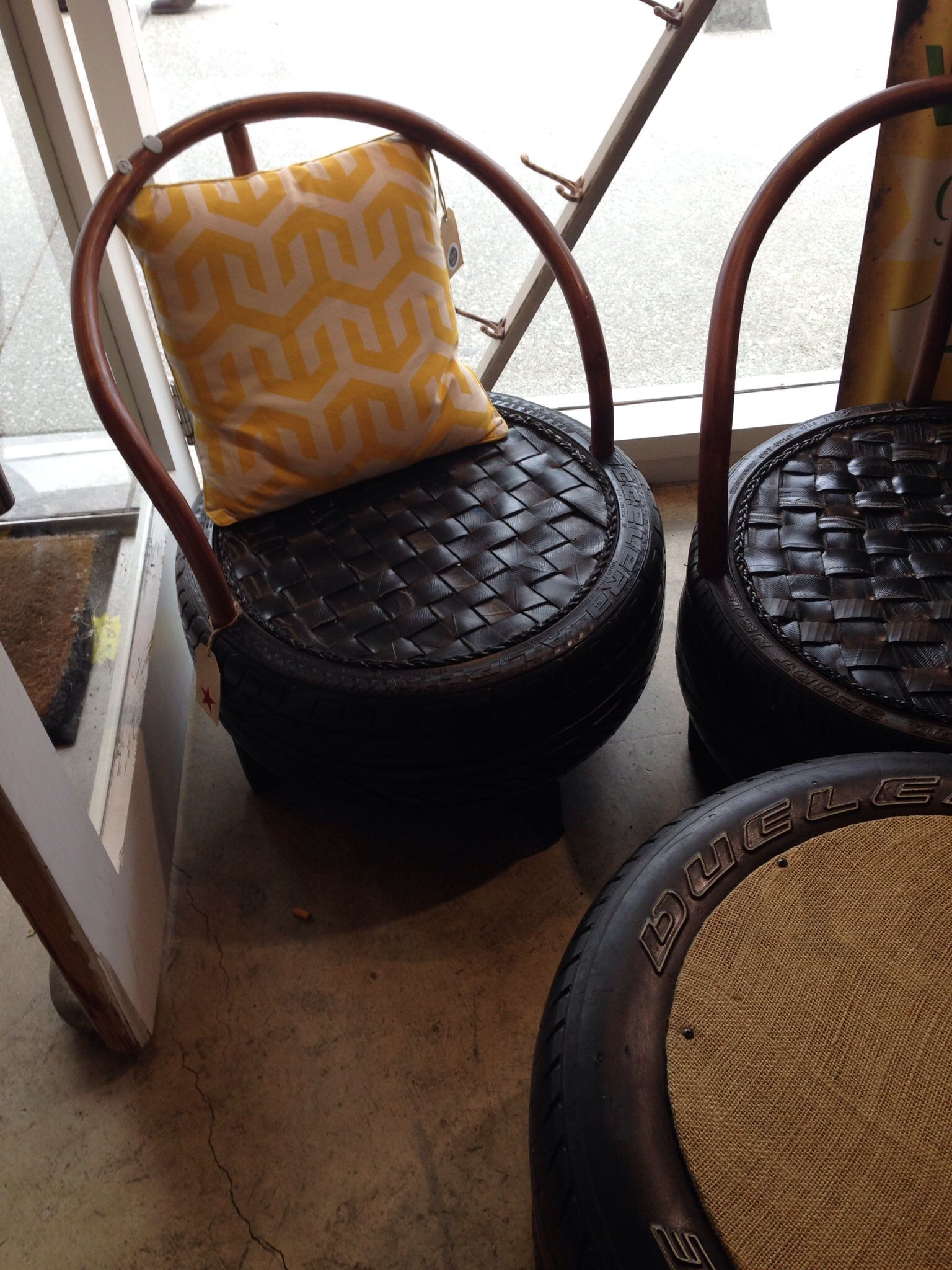 Tyre Chair And Table Tire Chair Tire Chairs Recycled Furniture