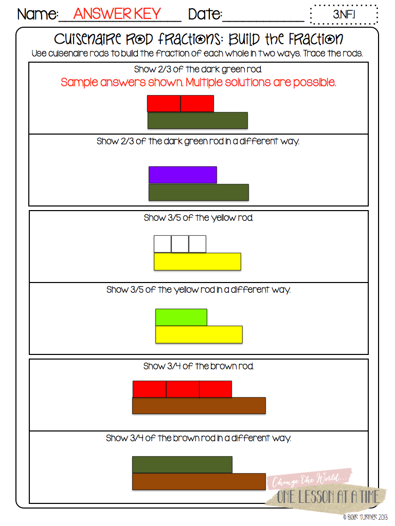 worksheet Cuisenaire Rods Worksheets i love using manipulatives in math especially when they can be fraction printables circles cuisenaire rods and pattern blocks