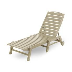 Polywood Nautical Sand Plastic Stackable Patio Chaise