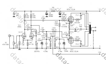 Двухтактный ламповый усилитель на ECC85 и EL34 » Журнал