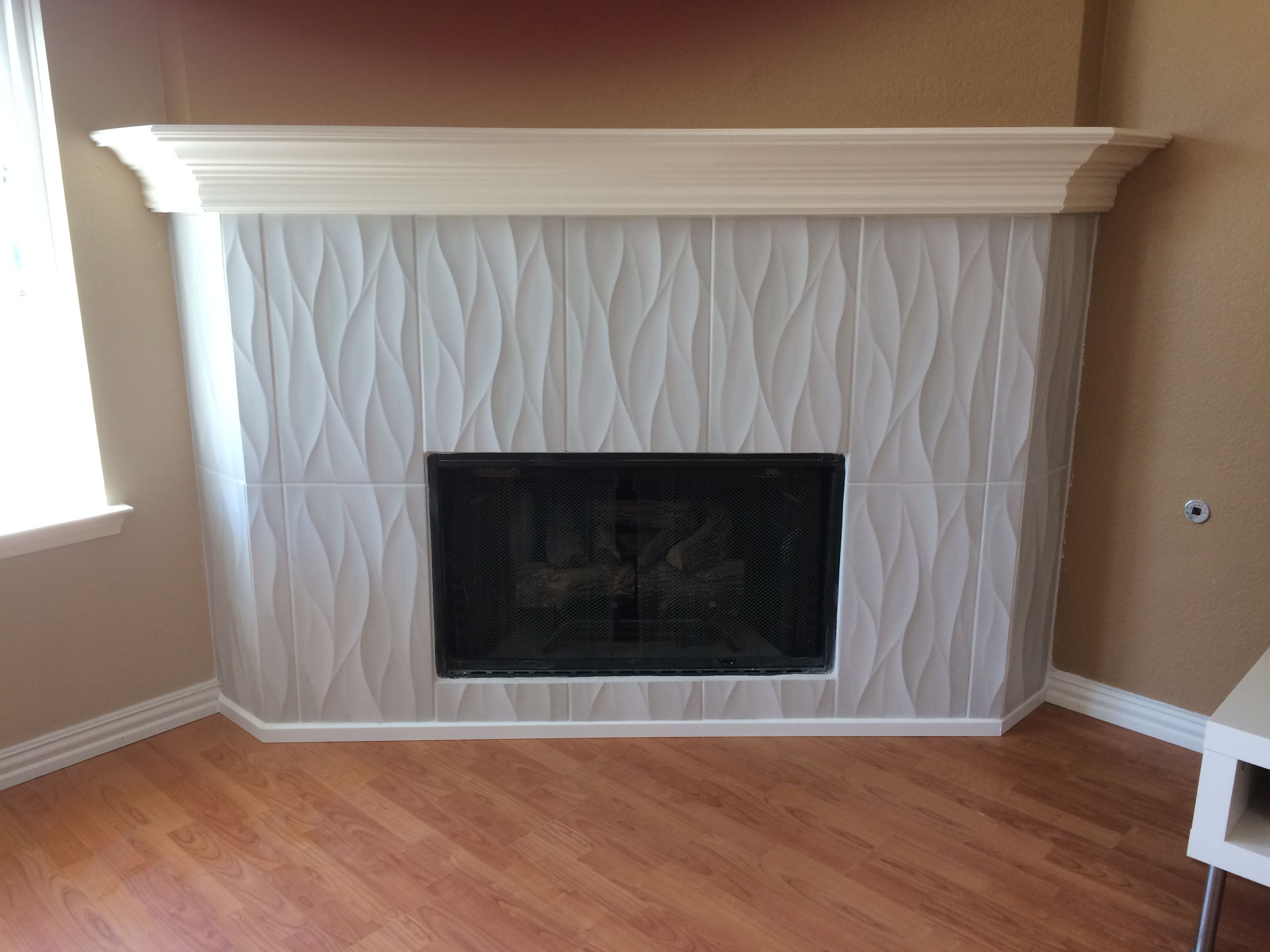 idole tear gray ceramic tile fireplace
