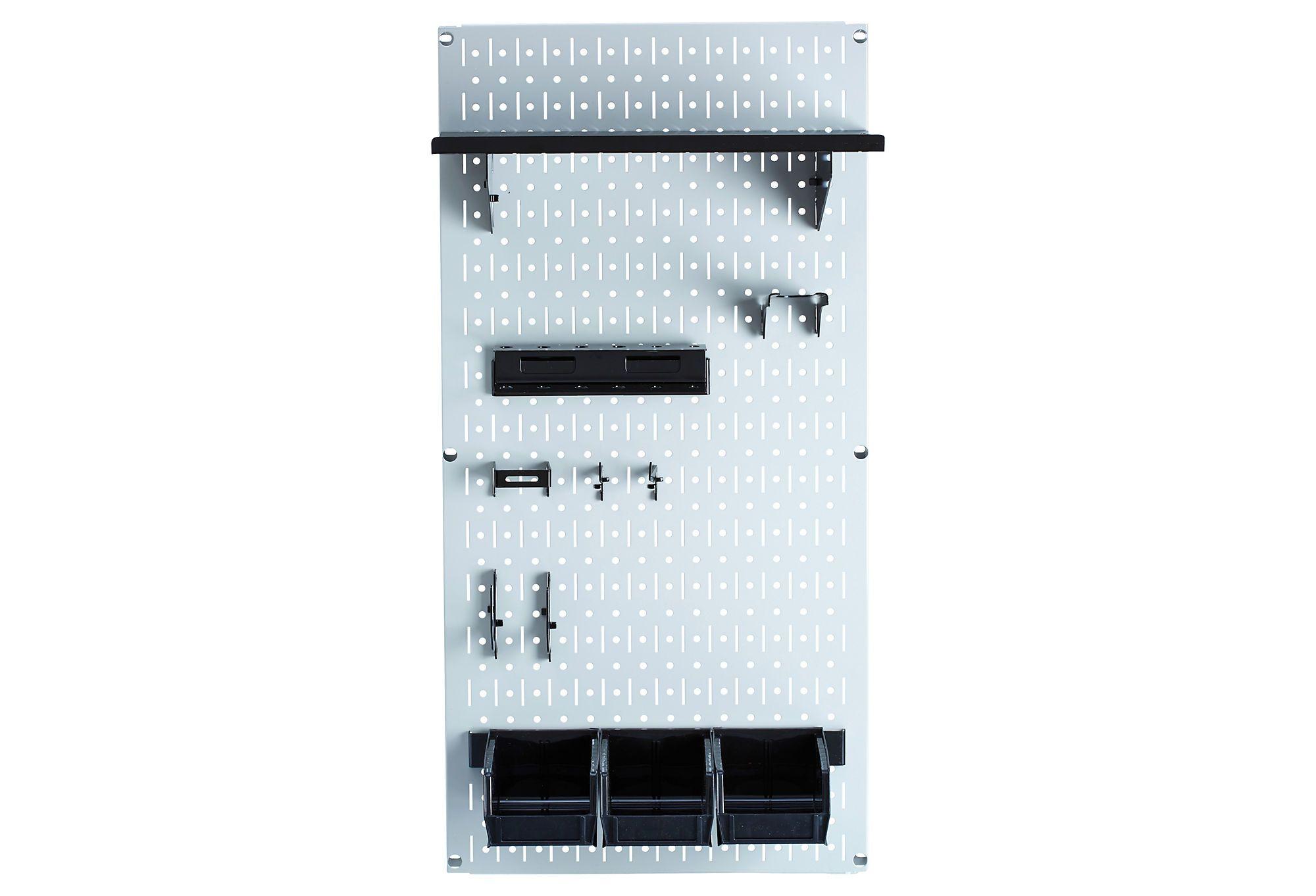 6 Wall Control ASMSH1606 B Deep Pegboard Shelf Assembly