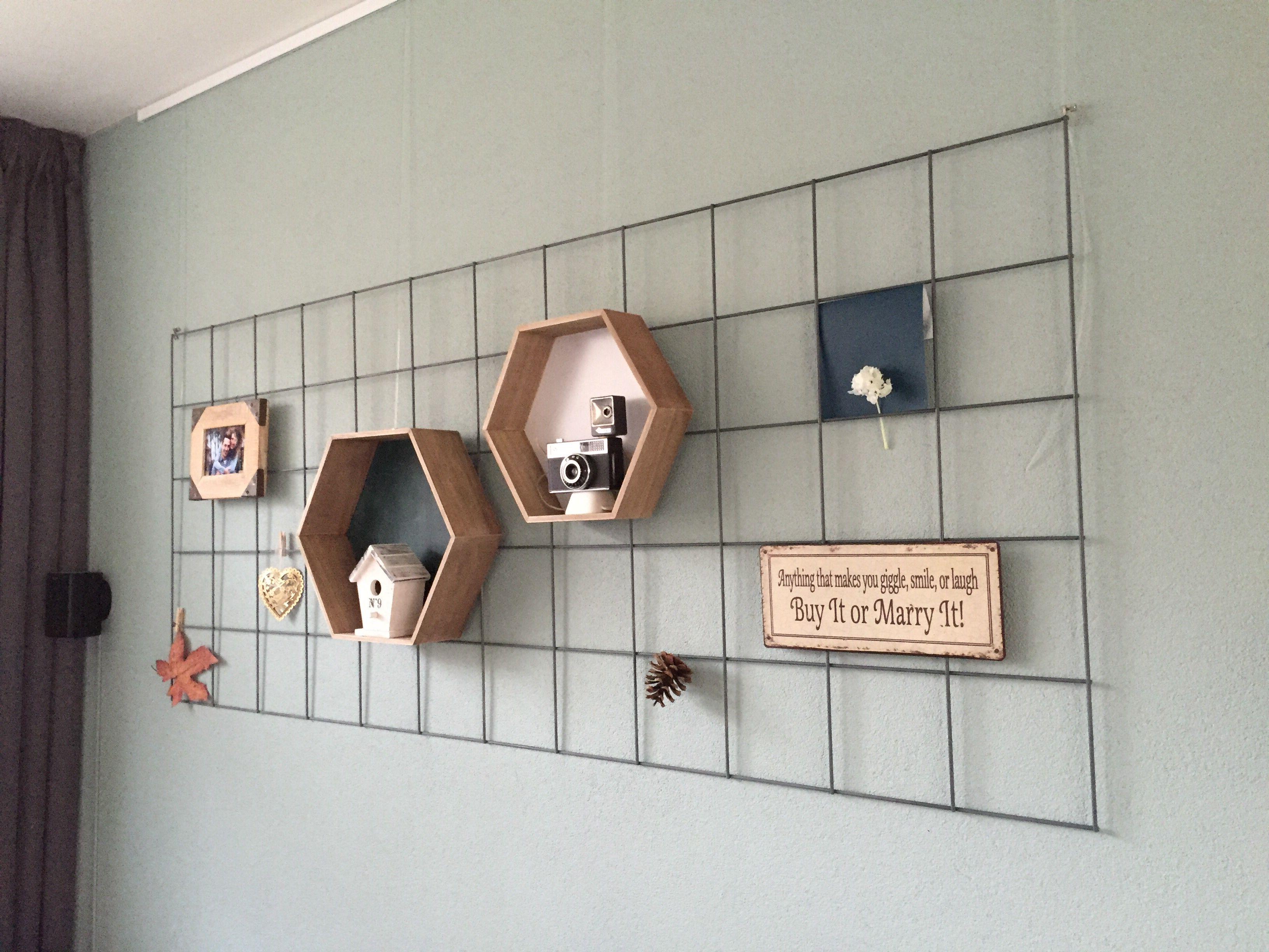 Gaaspaneel aan de muur van de bouwmarkt tuinafdeling for Einrichtungsideen lesezimmer