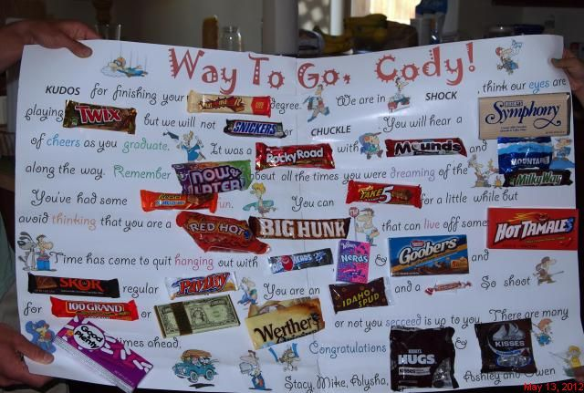 Candy Bar Card For Graduates