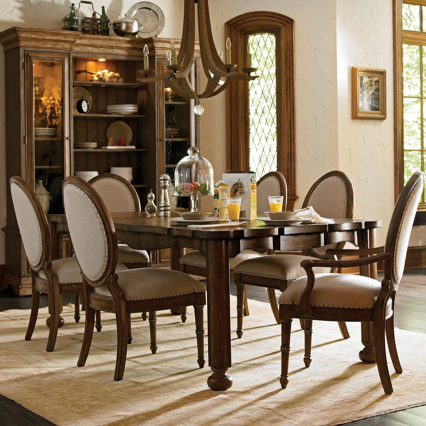 Stanley European Farmhouse 7 Piece Dining Set From Hayneedle Com
