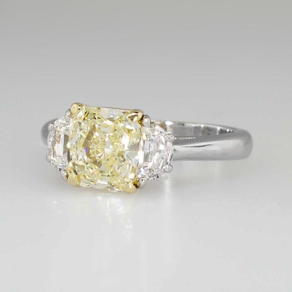 Oval Yellow Diamond Engagement Ring Yellow Diamond Fancy Yellow Diamond Yellow Diamond Engagement Ring