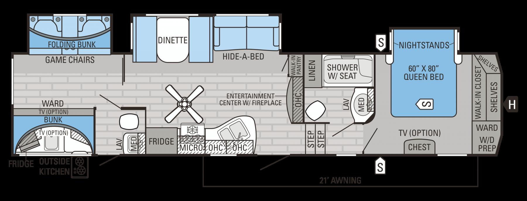 Jayco Eagle 345BHTS - OS Kitchen - Bunkhouse - 39'6