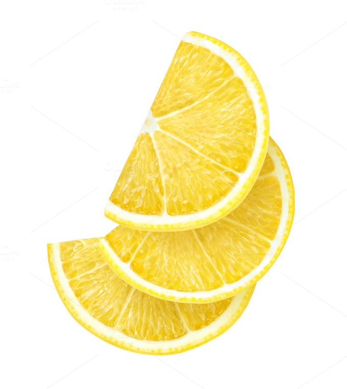 Lemon Slices Isolated Lemon Slice Lemon Clipart Fruit Photography