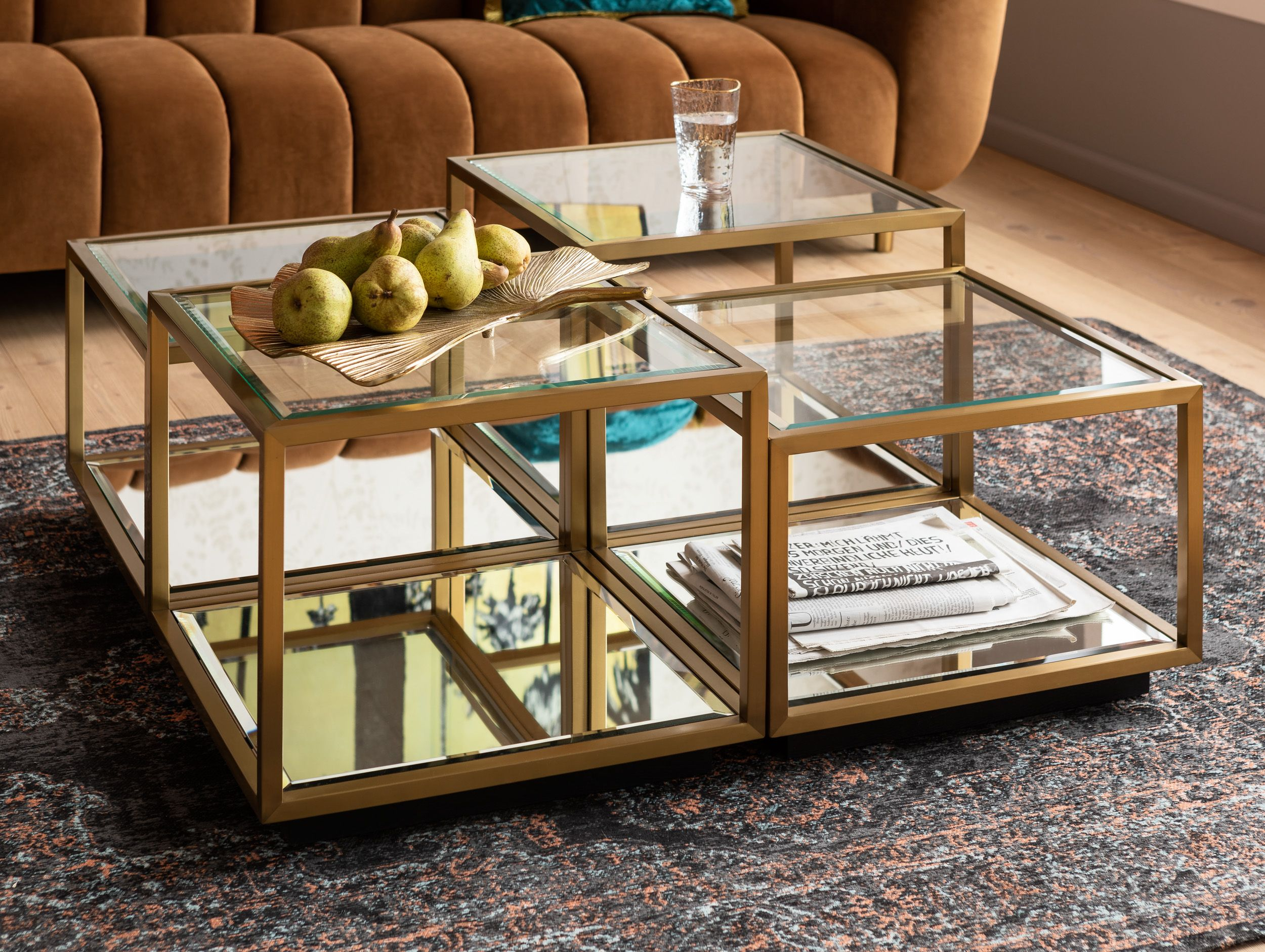 Couchtisch Luigi Gold 4 Set Kare Online Gmbh Coffee Table Coffee Table Design Modern Centre Table Designs